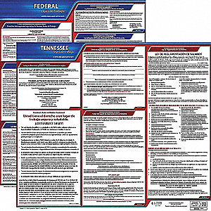 Labor Law Poster Kit,TN,Spanish,27 In. W