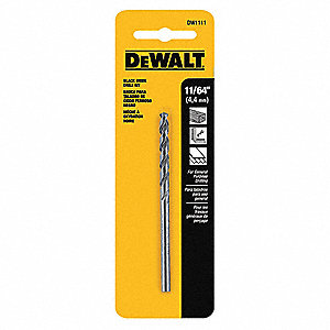 Drill Bit,HSS,11/64in.,Black Oxide