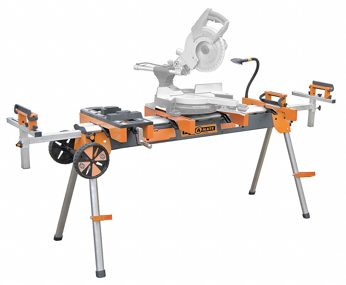 Miter Saw Stand,  116 in,  For Use With All Miter Saws