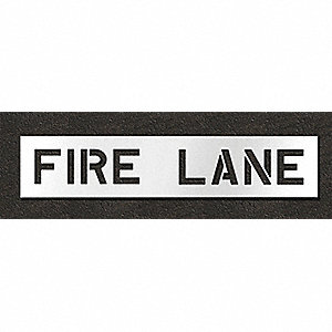 Pavement Stencil,Fire Lane,8 in
