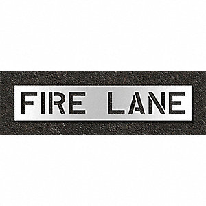 Pavement Stencil,Fire Lane,10 in