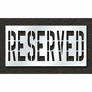 Pavement Stencil,Reserved,36 in