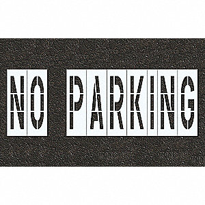 Pavement Stencil,No Parking,48 in