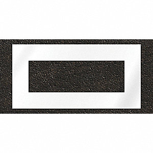 "Pavement Stencil, Highway Rectangle, 24"", Polyethylene, 1 EA"