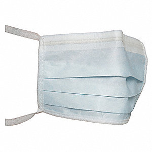 Cleanroom Mask,Universal,Blue,PK300