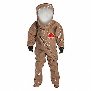 Level A Front-Entry Encapsulated Suit, Tan, 2XL, Tychem® Responder® CSM Material