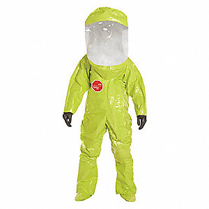 Level A (Training Purposes Only) Front-Entry Encapsulated Training Suit, Lime Yellow, 2XL, Tychem® 1