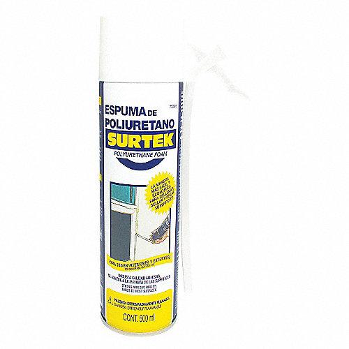 Surtek espuma de poliuretano 500ml multiusos selladores for Espuma de poliuretano precio