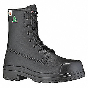 SAFETY BOOT 8IN BLACK-ZIP-3E-7