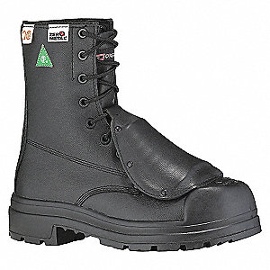 SAFETY BOOT 8IN BLK VIBR-3E-8.5