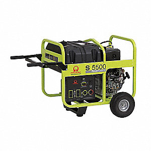 Portable Generator, 120/240VAC Voltage, 5000 Rated Watts, 5500 Surge Watts, 41.7/20.8 Amps @ 120/240