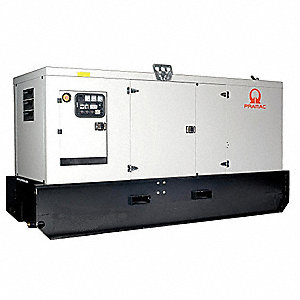 Towable Stndby Generator,66.6kW,128 gal.
