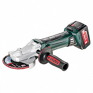 "5"" Cordless Flat Head Angle Grinder, 18.0 Voltage, 8000 No Load RPM, Battery Included"
