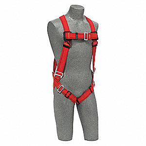 PRO™ Full Body Harness with 420 lb. Weight Capacity, Red, S/M