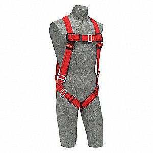 Full Body Harness,M/L,420 lb.,Red