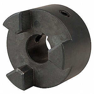 "L100 Size 7/8"" Sintered Iron Jaw Coupling Hub, Keyway Size: 3/16"" x 3/32"""