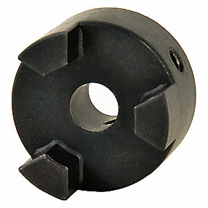 "L075 Size 7/16"" Sintered Iron Jaw Coupling Hub, Keyway Size Type: None"