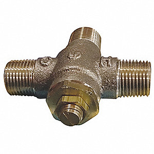 "1/2"" Threaded Inlet Type Thermostatic Mixing Valve, Lead Free Copper Silicon Alloy, 4 gpm"