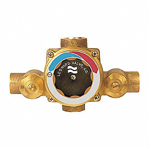 "3/4"" Sweat Inlet Type Mixing Valve, Bronze, 15 gpm"