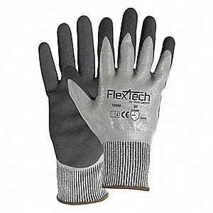 Cut Resistant Gloves,Nitrile,Unlined,PR
