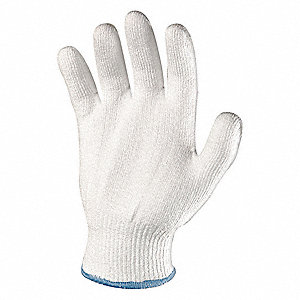 Cut Resistant Gloves, ANSI/ISEA Cut Level 2 Lining, White, XL, EA 1