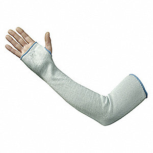 "HPPE Sleeve with Thumbhole, 18""L, Hemmed Cuff, Blue"