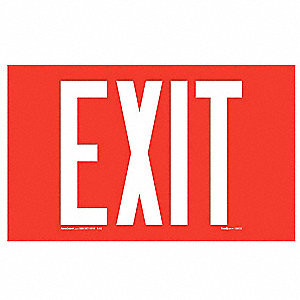 Exit Sign,9-1/4x12in,Red/Ylw,Surf