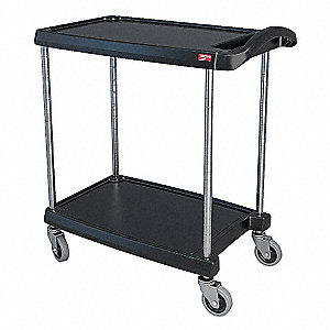 Utility Cart,300 lb. Load Cap.,2 Shelves