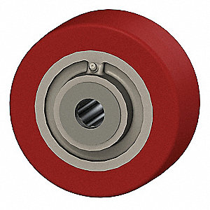 "6"" Caster Wheel, 2040 lb. Load Rating, Wheel Width 2-1/2"", Polyurethane, Fits Axle Dia. 1"""