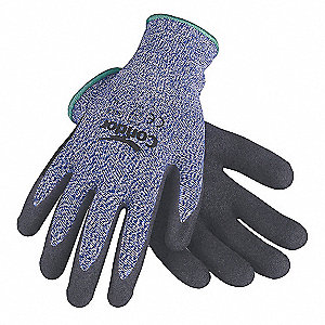 Cut Resistant Gloves,Sandy Nitrile ,L,PR