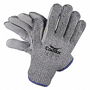 Uncoated Cut Resistant Gloves, ANSI/ISEA Cut Level 4, HPPE Lining, Gray, XL, PR 1