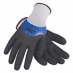 "Coated Gloves,3/4 Dip,M,10"",PR"
