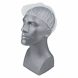 Hairnet, White, Nylon  PK100