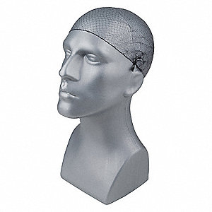 Hairnet, Black, Nylon PK100