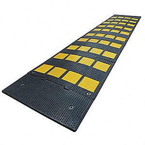 Speed Bump,24in.W,1-1/8in.H,108in.L,Rbbr