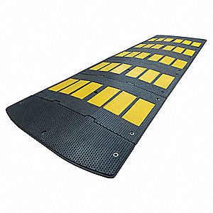 Speed Bump,36in.W,2in.H,120in.L,Rubber
