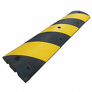 Speed Bump,12in.W,2-1/4in.H,72in.L,Rubbr