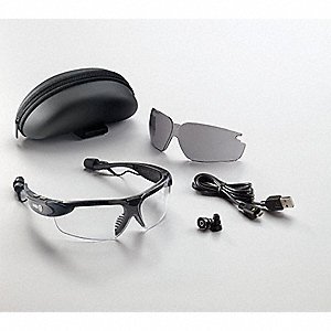 AccoustiMaxx  Anti-Fog Safety Glasses, Clear/Gray Lens Color