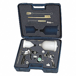 2 HVLP GRAVITY SPRAY GUN KIT