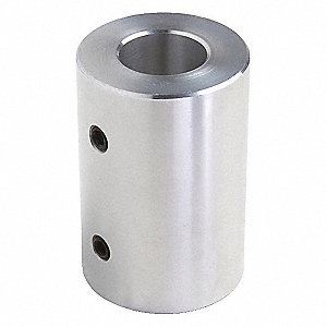 "1 Piece Set Screw 1/4"" Bore Dia. Aluminum Rigid Shaft Coupling"