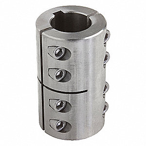 "1 Piece Clamp 3/8"" Bore Dia. Stainless Steel Rigid Shaft Coupling"