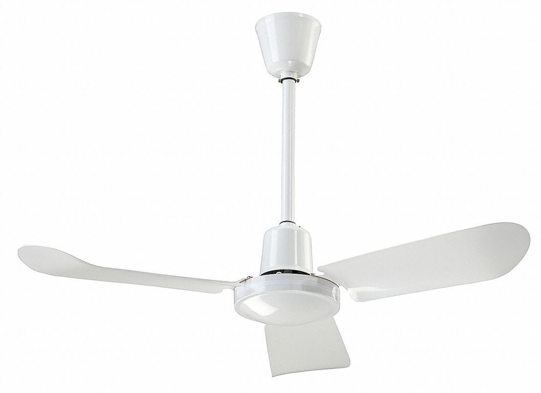 Light-Duty Industrial Ceiling Fan,  36 in,  Number of Blades 3,  Number of Speeds Variable,  120V AC