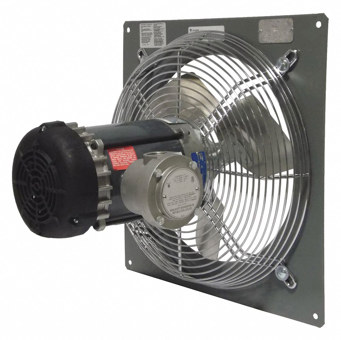 1/3 hpHP 115/208-230V ACV Panel Mounted Explosion Proof Exhaust Fan