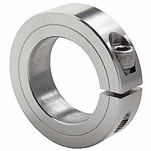 "Stainless Steel Shaft Collar, Clamp Collar Style, Standard Dimension Type, 2-3/4"" Bore Dia."