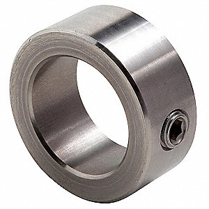"Stainless Steel Shaft Collar, Set Screw Collar Style, Standard Dimension Type, 5/16"" Bore Dia."