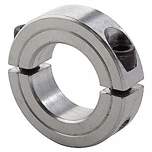 Shaft Collar,Clamp,2Pc,7/8 In,Aluminum