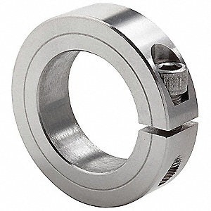 "Stainless Steel Shaft Collar, Clamp Collar Style, Standard Dimension Type, 3-1/2"" Bore Dia."