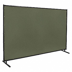 "Cotton Duck Welding Screen, 6 ft. H x 10 ft.W x 0.025"" Thick, Olive"