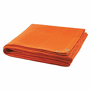 Welding Blanket,10 ft. W,6 ft.,Orange