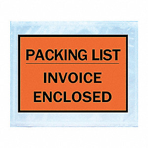 Packing List Envelope,4-1/2x5-1/2,PK250